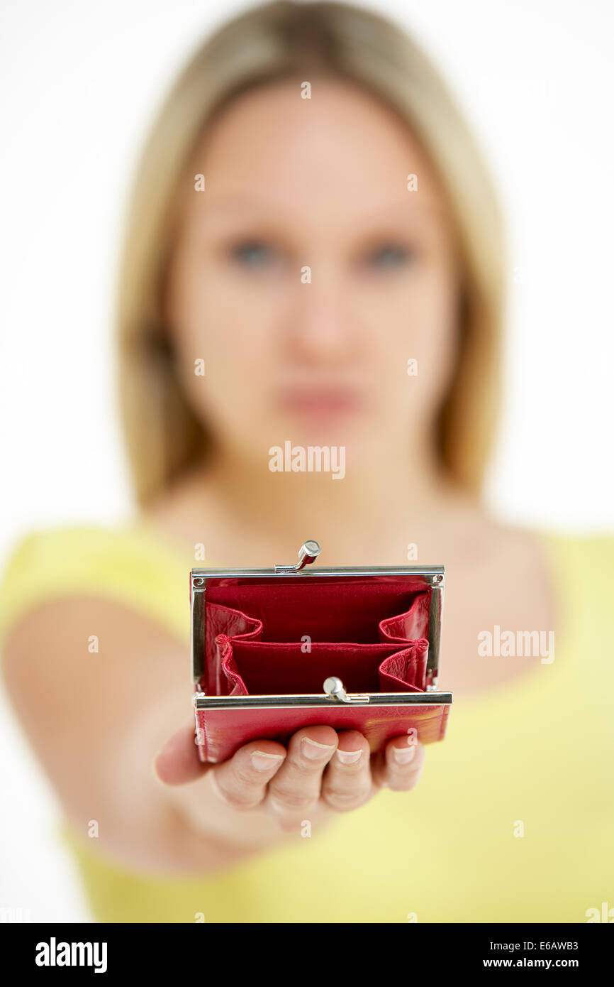 money,finance,purse,poverty - Stock Image