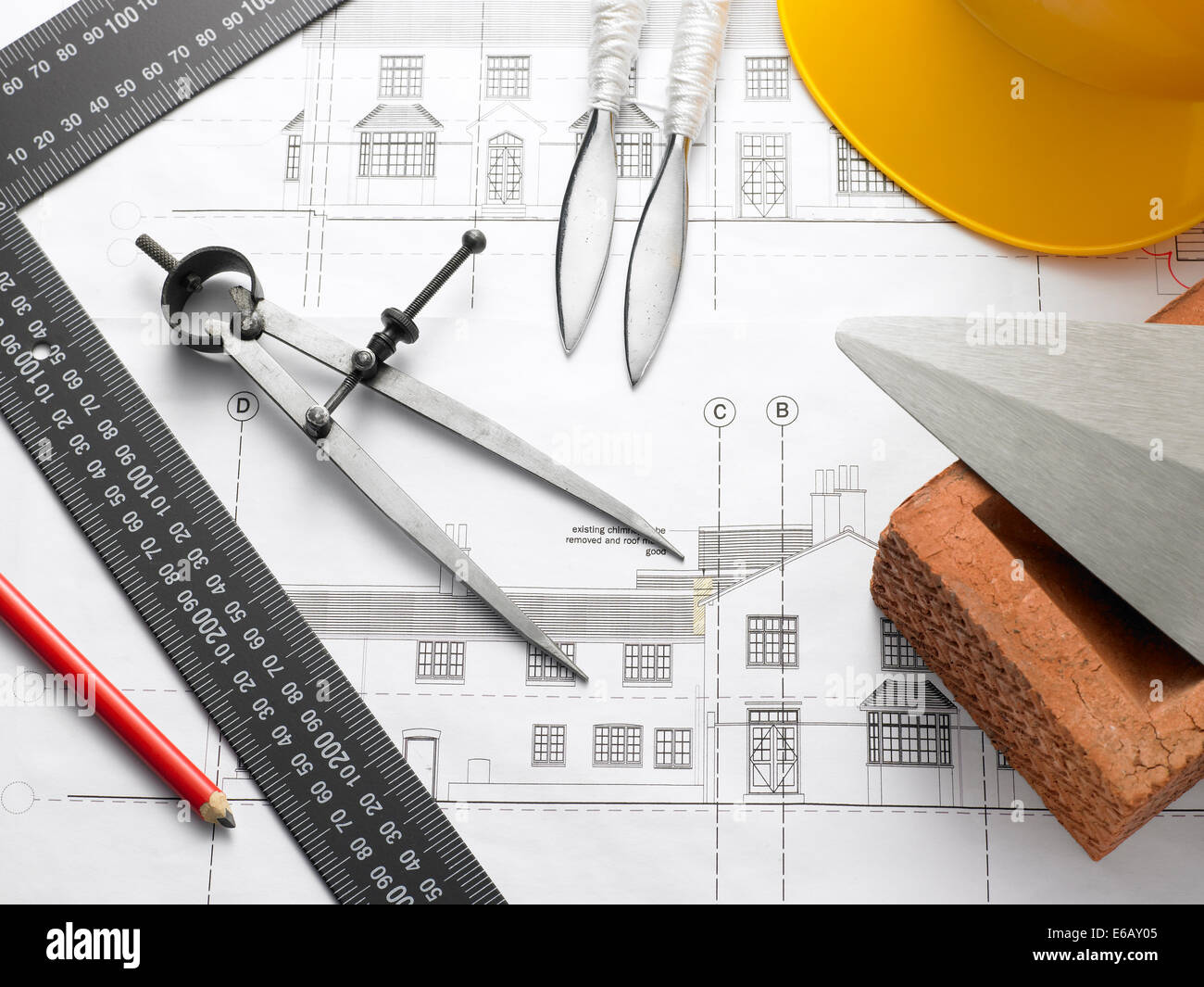 floorplan,technical drawing Stock Photo