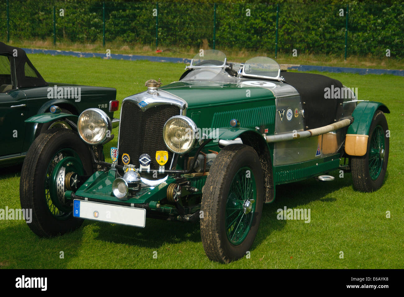 oldtimer,sports car,riley - Stock Image