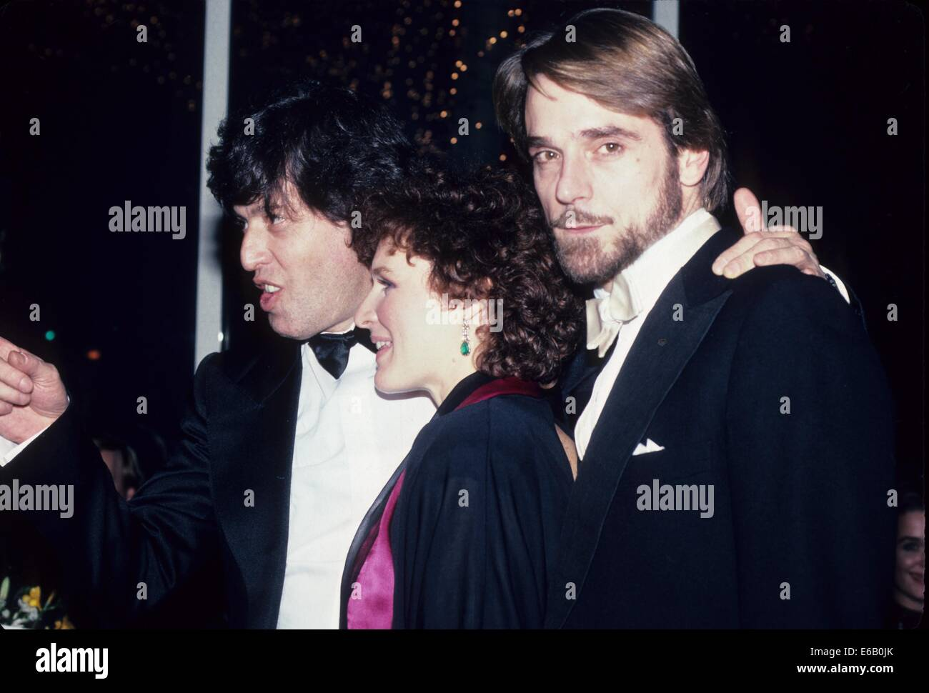 JEREMY IRONS with Glenn Close and Tom Stoppard 1984.n2783.Supplied by   Photos, inc.(Credit Image: © Supplied - Stock Image