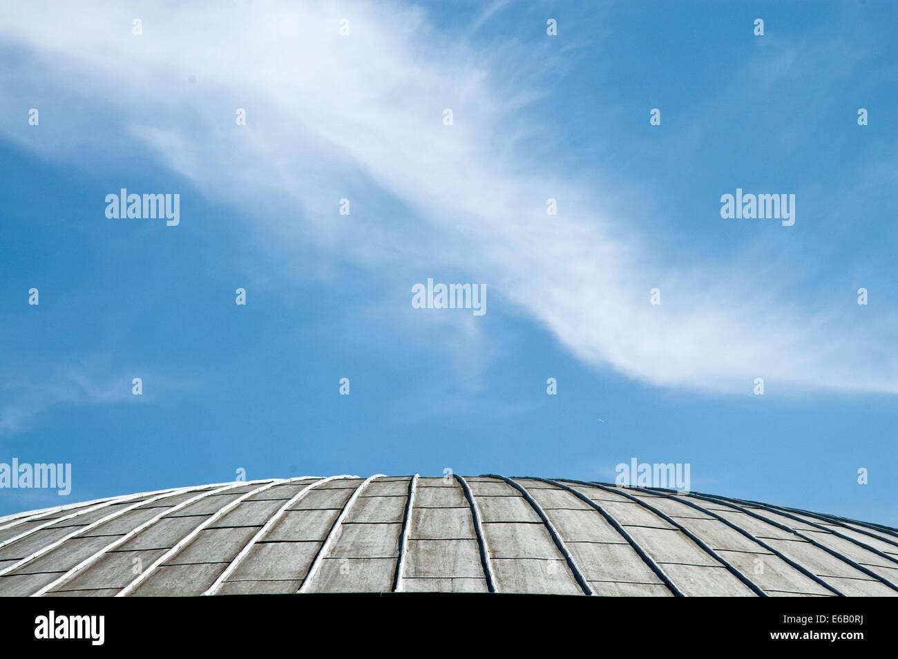 sky,church roof,st. ursula Stock Photo