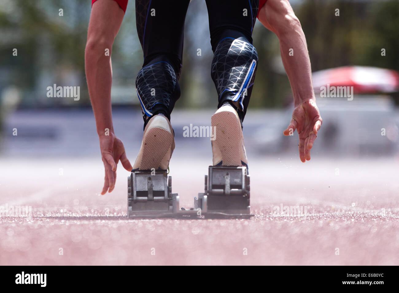 runner,start,sprinting - Stock Image