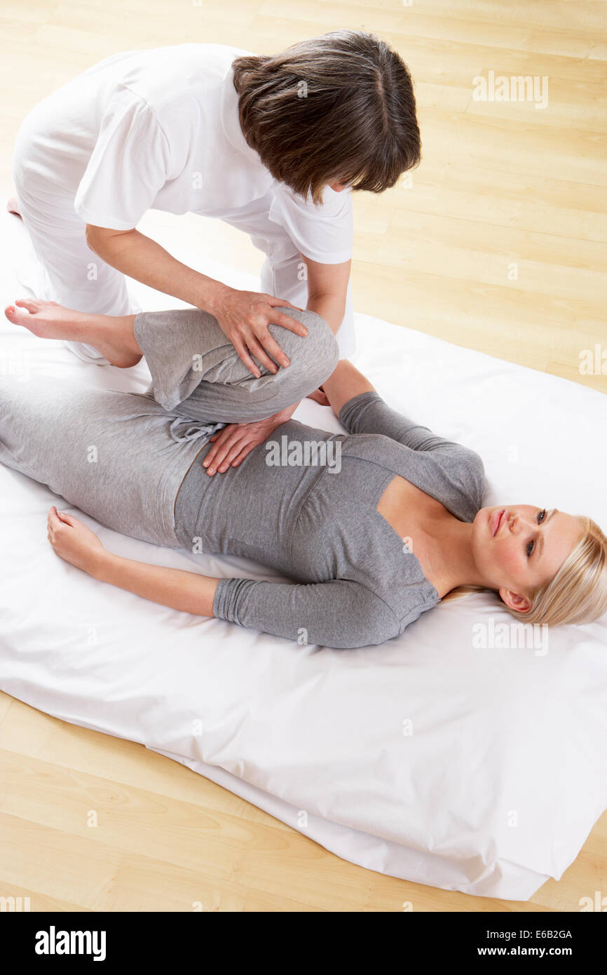 physiotherapy,physiotherapist - Stock Image