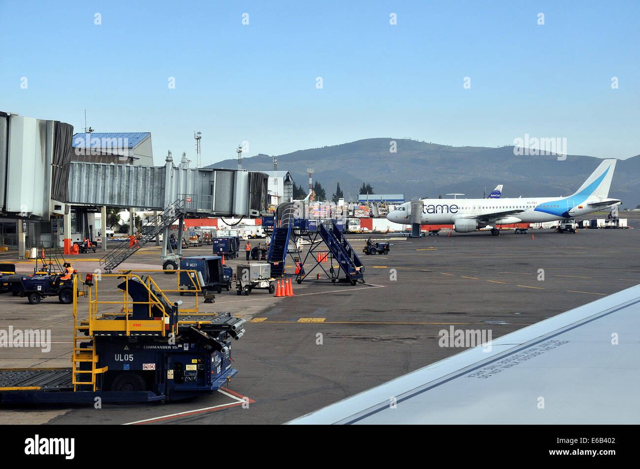 Airbus A320-214 of Tame airways Mareshal Sucre international airport (old) Quito Ecuador - Stock Image