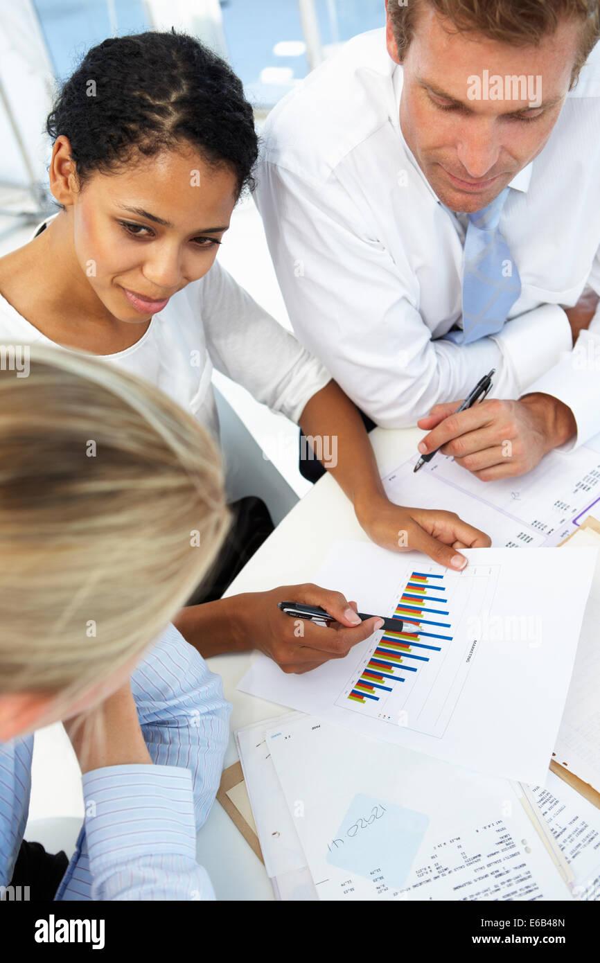 meeting,conversation,statistics - Stock Image