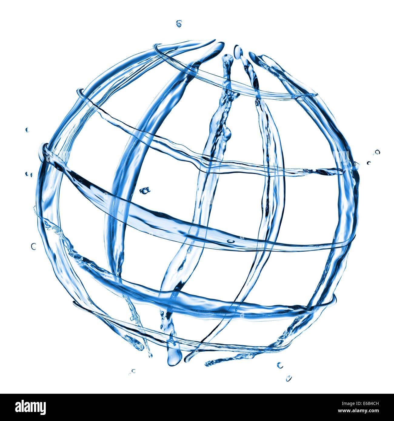 globe,rotate,water cycle - Stock Image