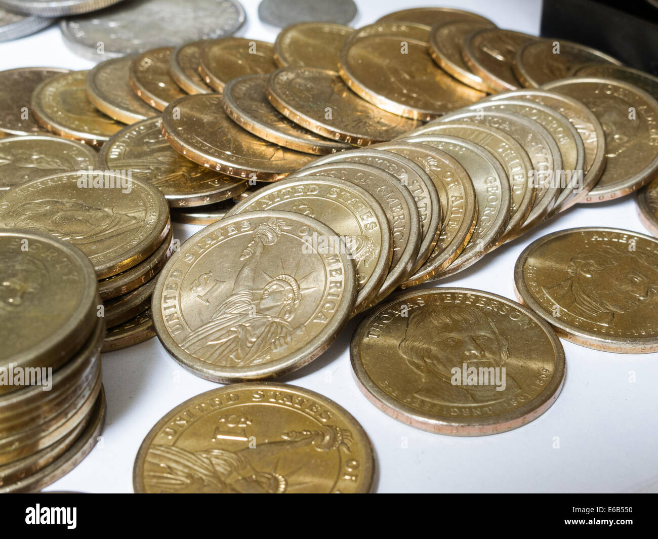 Collectible Coins, USA - Stock Image