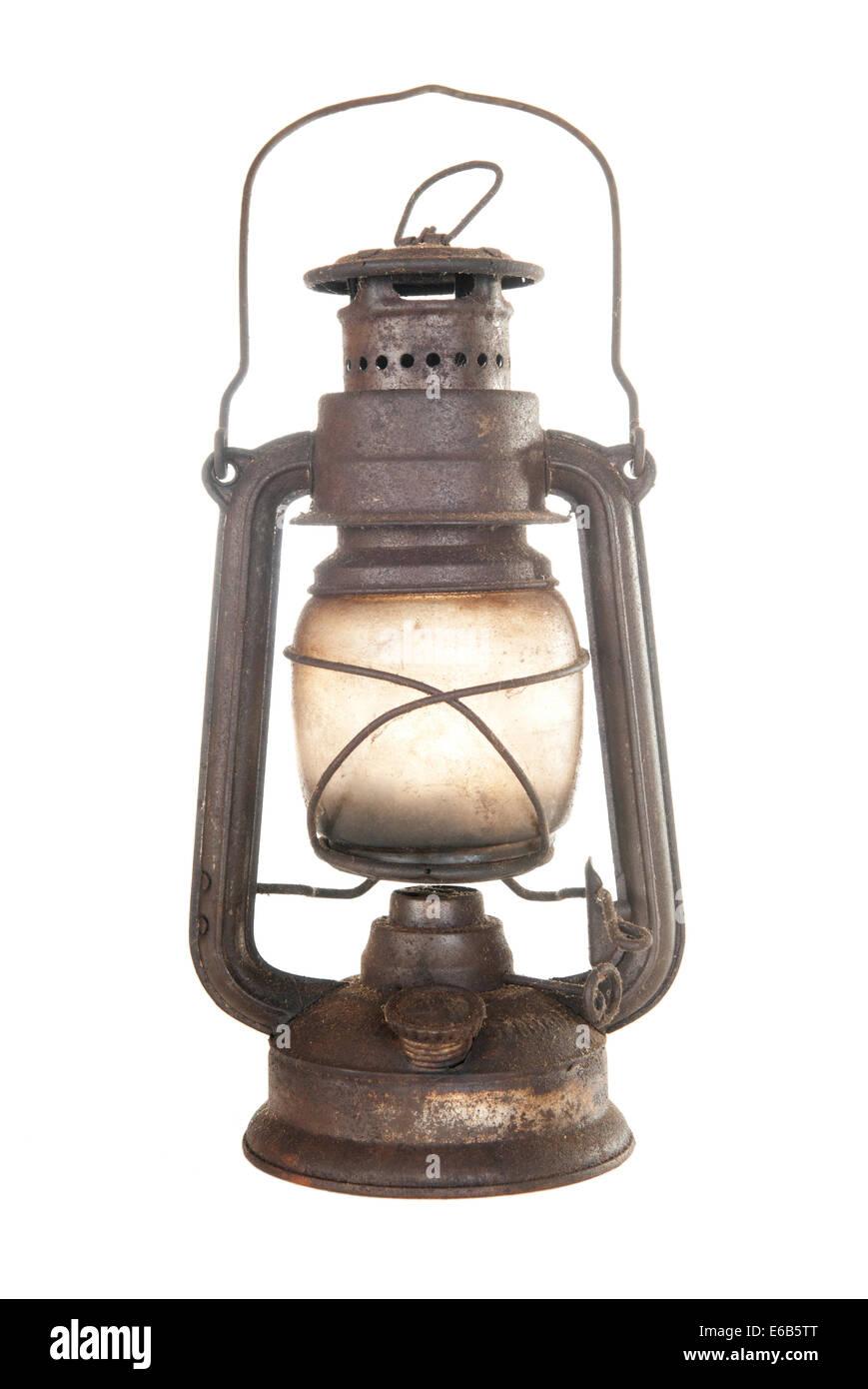 lamp,nostalgia,kerosene lamp - Stock Image