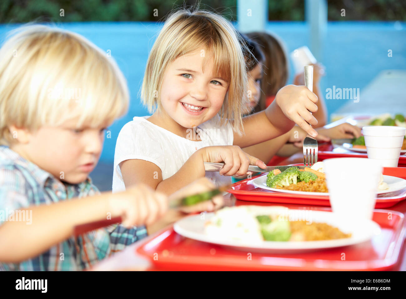 Child Healthy Diet Preschool School Food Stock Photo Alamy