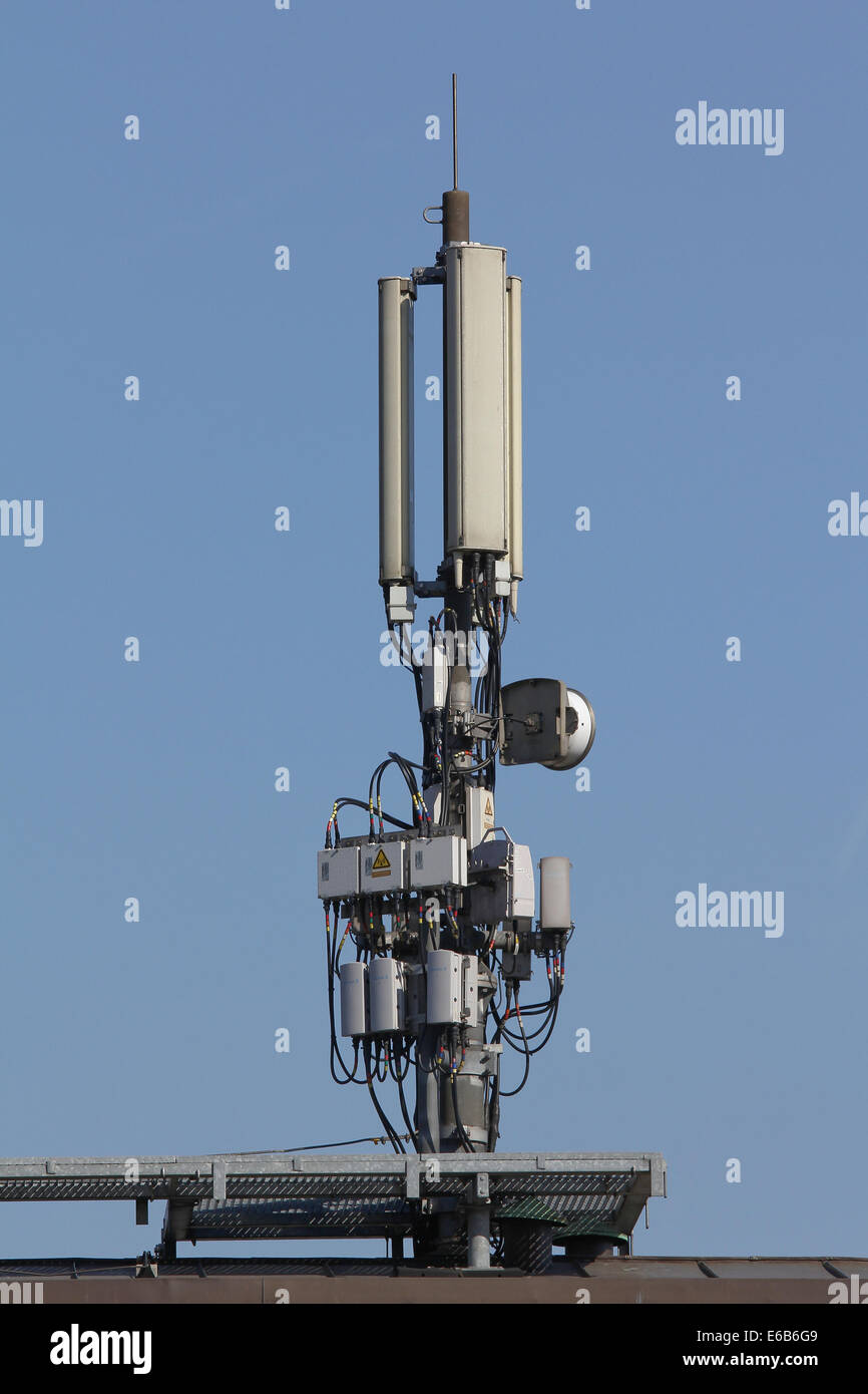 transmission tower,radio mast ,repeater tower - Stock Image