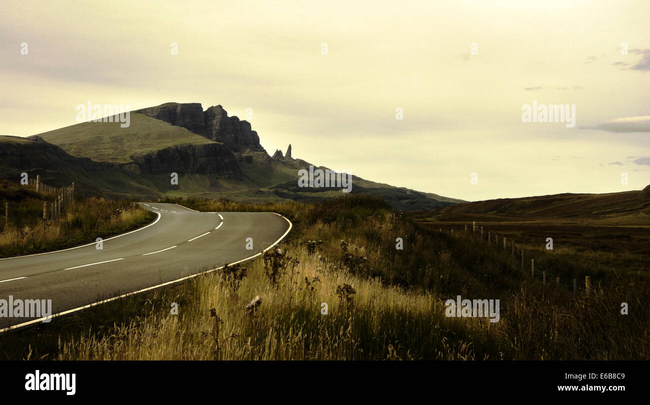 street,road,scotland,isle of skye - Stock Image