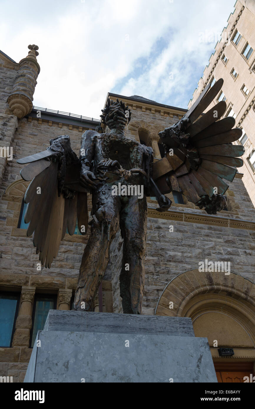 95f60a43a54f David Altmejd bronze statue, The Eye outside Montreal Museum of Modern Art,  Canada -