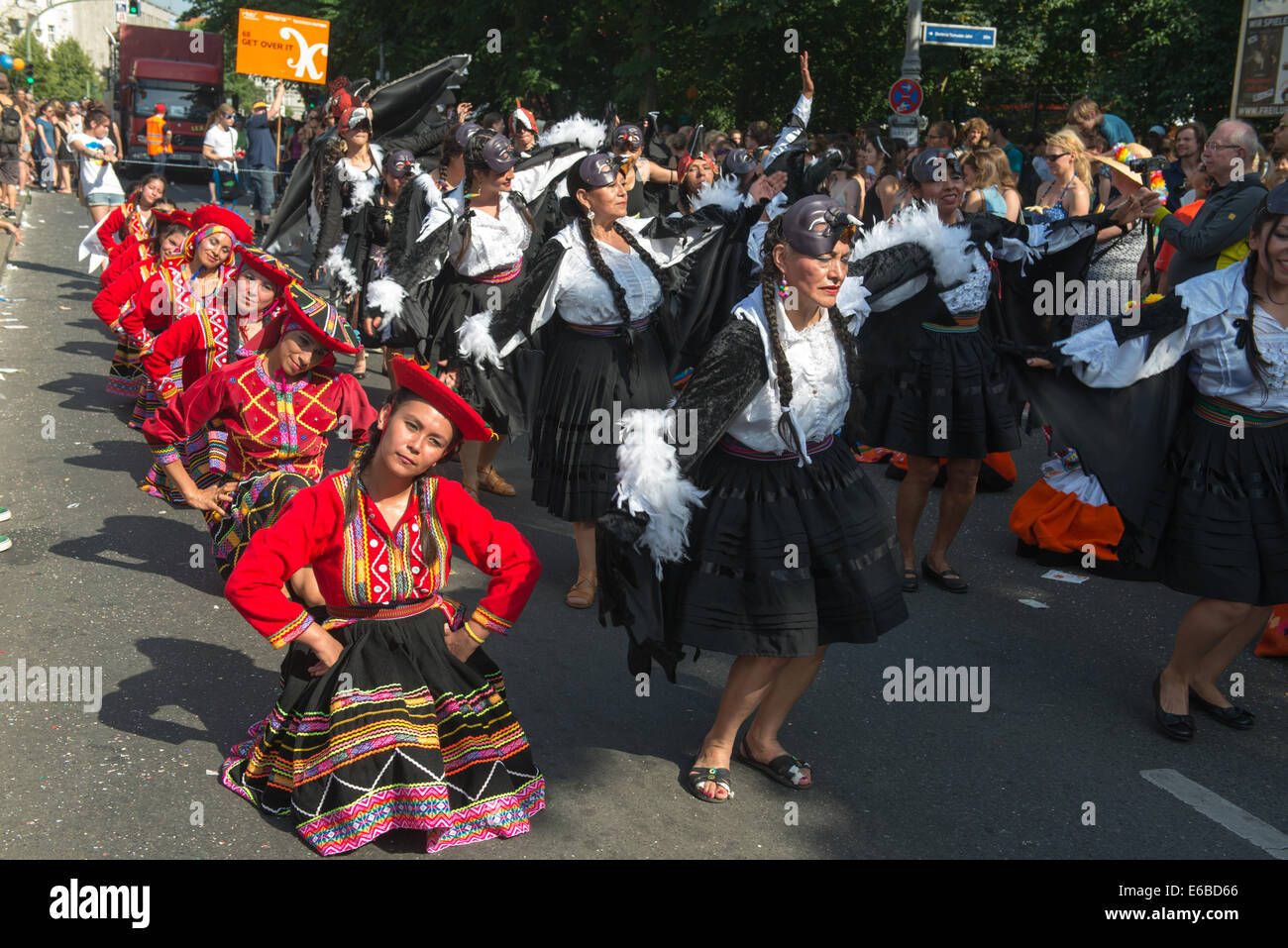 Participants at the Karneval der Kulturen (Carnival of Cultures), one of the main urban festivals in Berlin - Stock Image