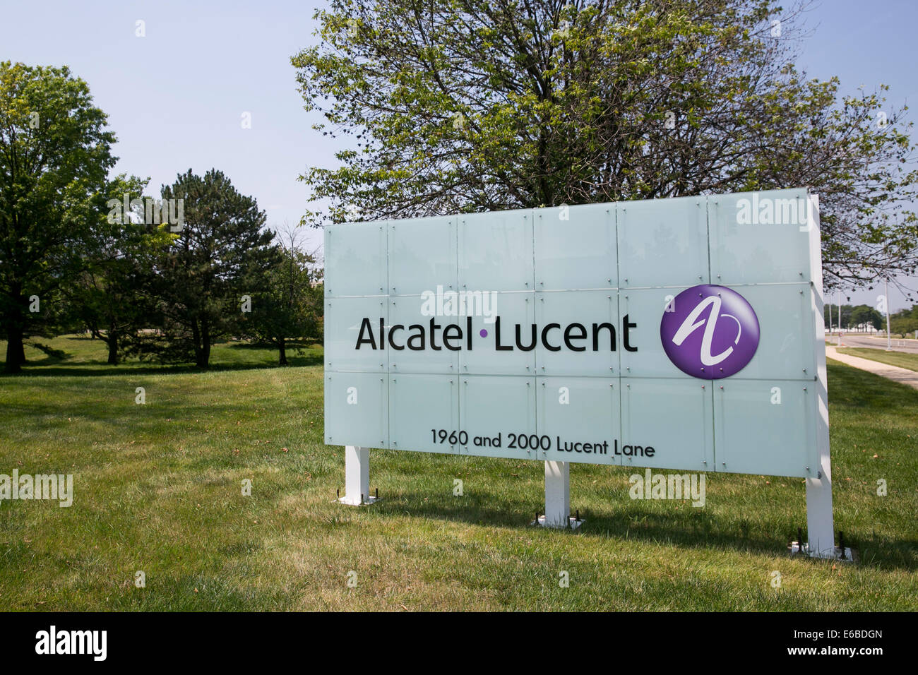 The headquarters of Alcatel-Lucent in Naperville, Illinois. - Stock Image