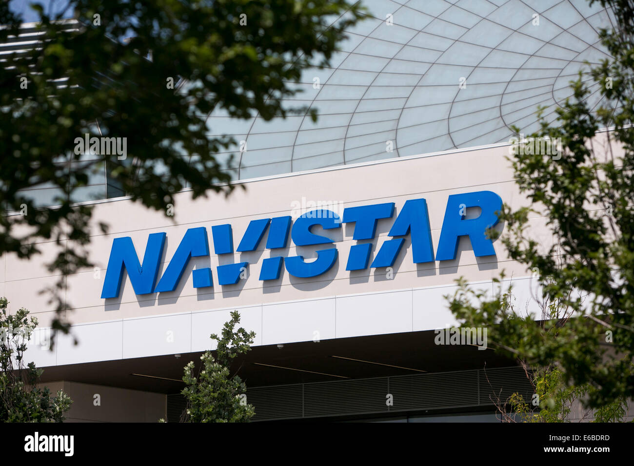 The headquarters of Navistar in Lisle, Illinois Stock Photo