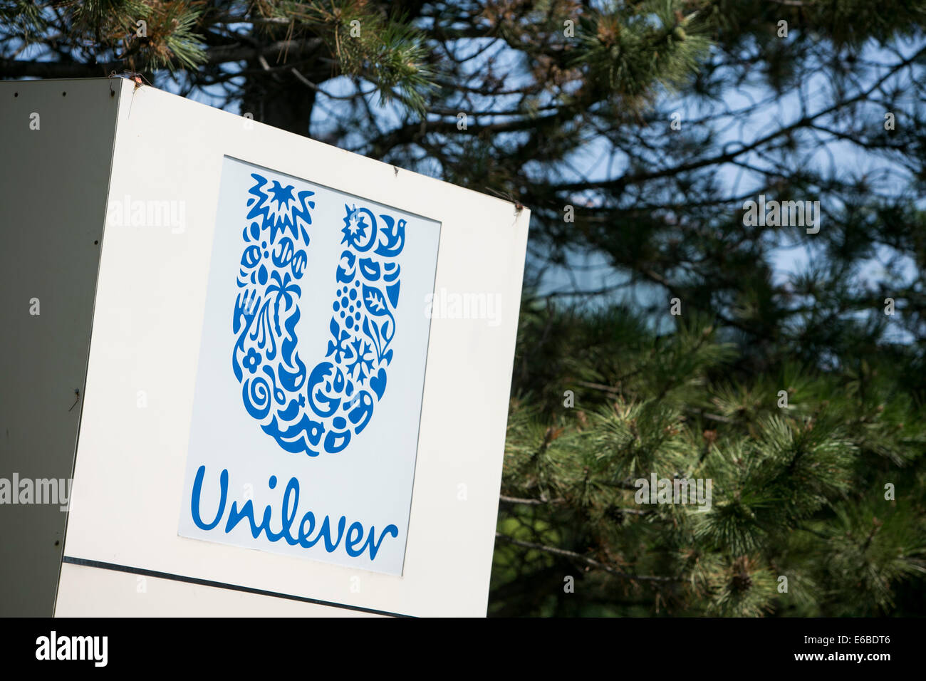 An office building occupied by Unilever in Lisle, Illinois. Stock Photo