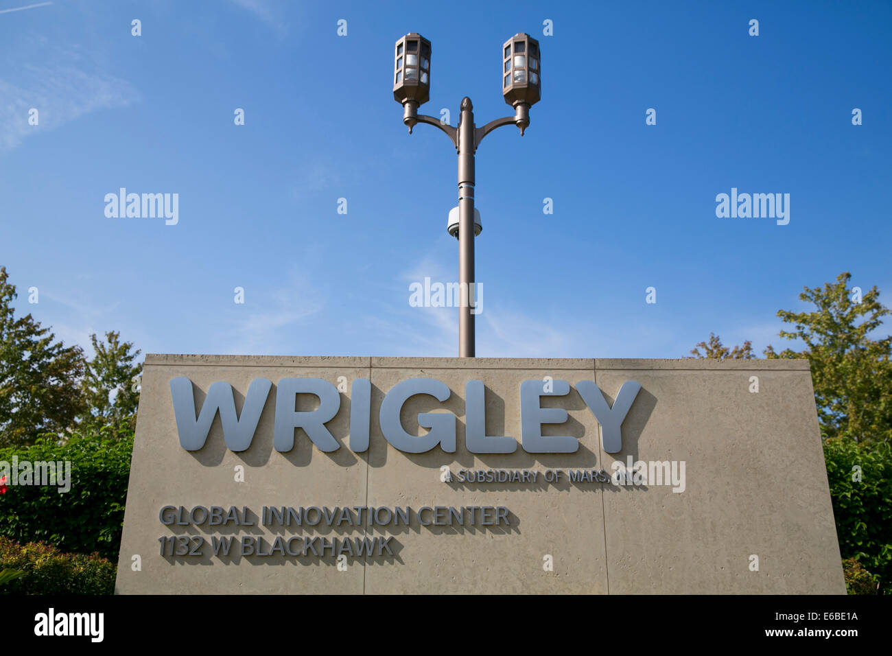 The headquarters of William Wrigley Jr. Company in Chicago, Illinois. - Stock Image