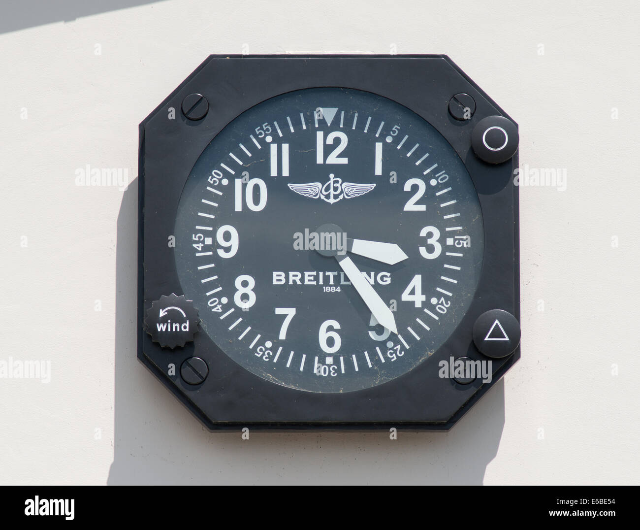 Breitling Wall Clock Stock Photos Breitling Wall Clock Stock