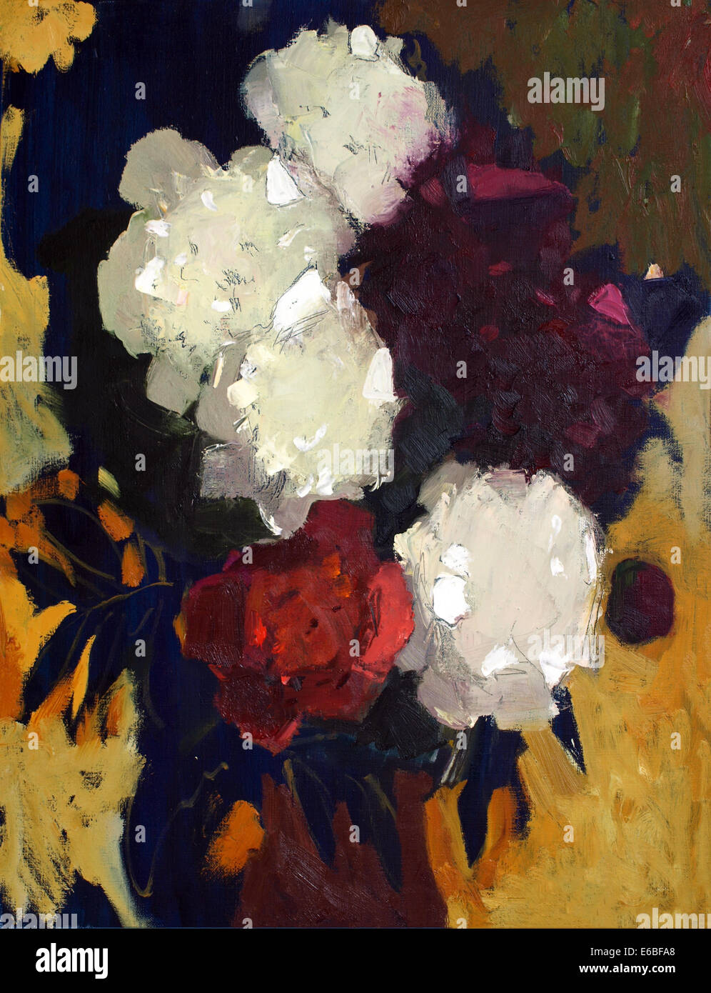 Oil Painting Beautiful Flowers Stock Photos Oil Painting Beautiful