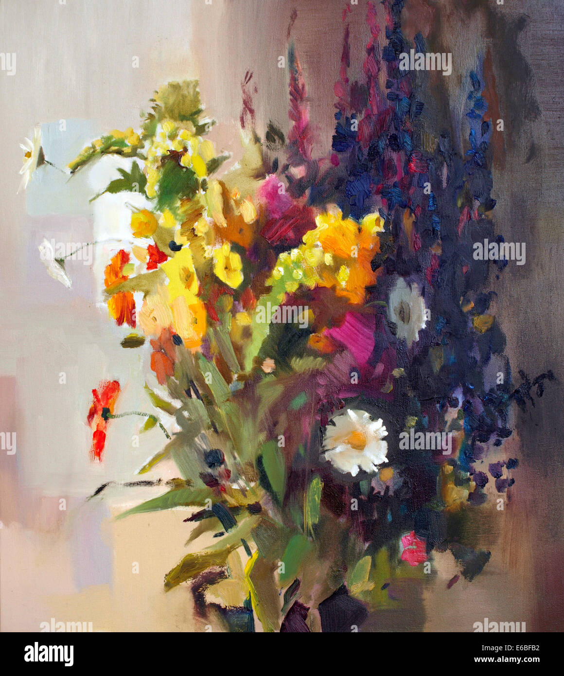Oil painting of the beautiful flowers stock photo 72782950 alamy oil painting of the beautiful flowers izmirmasajfo