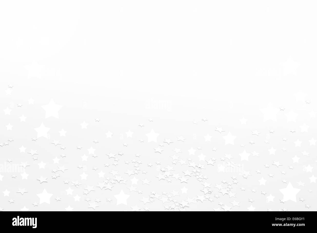 White christmas background with shinny stars. - Stock Image
