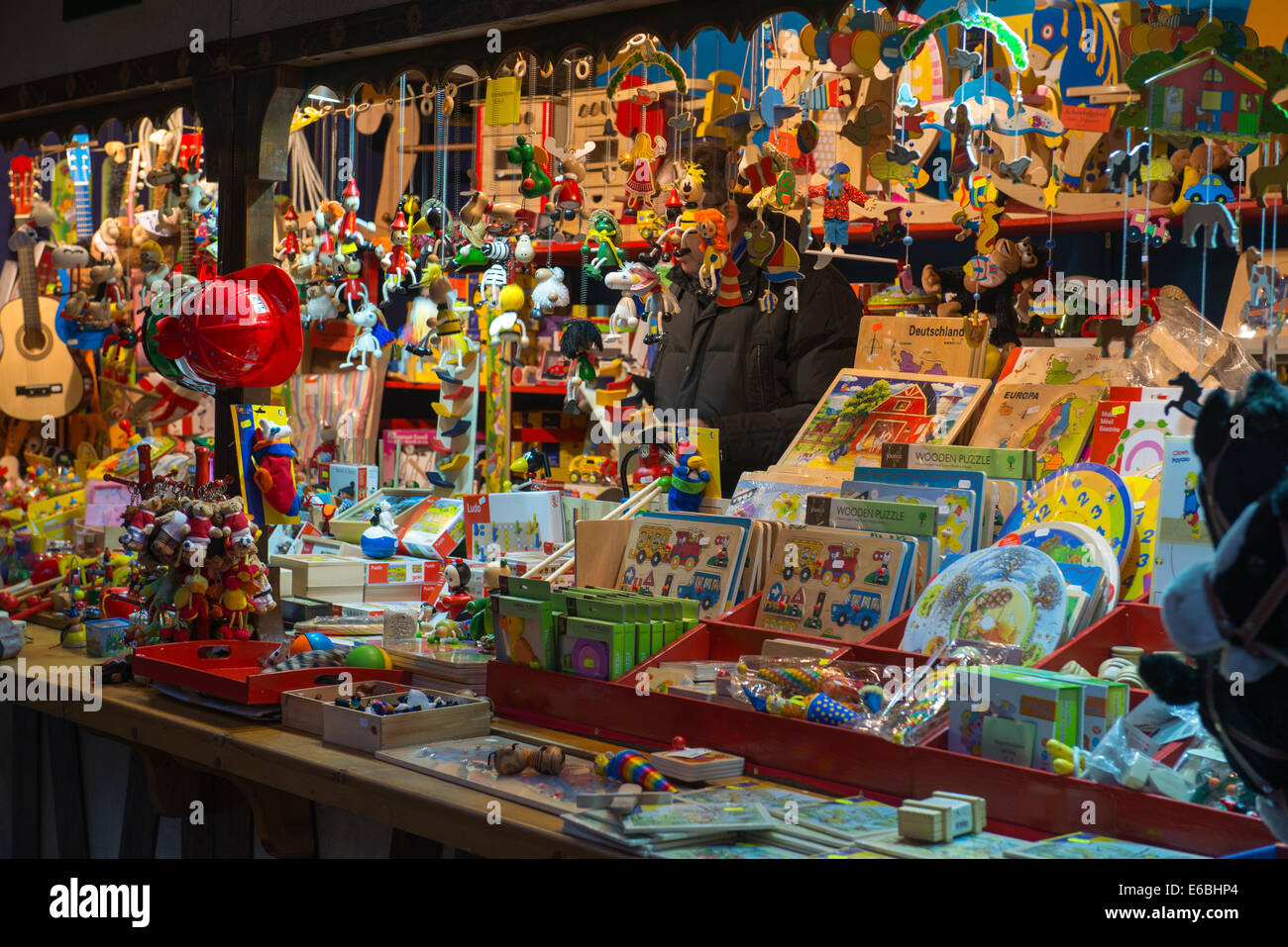 Store at Christmas Markets in Trier, Germany - Stock Image