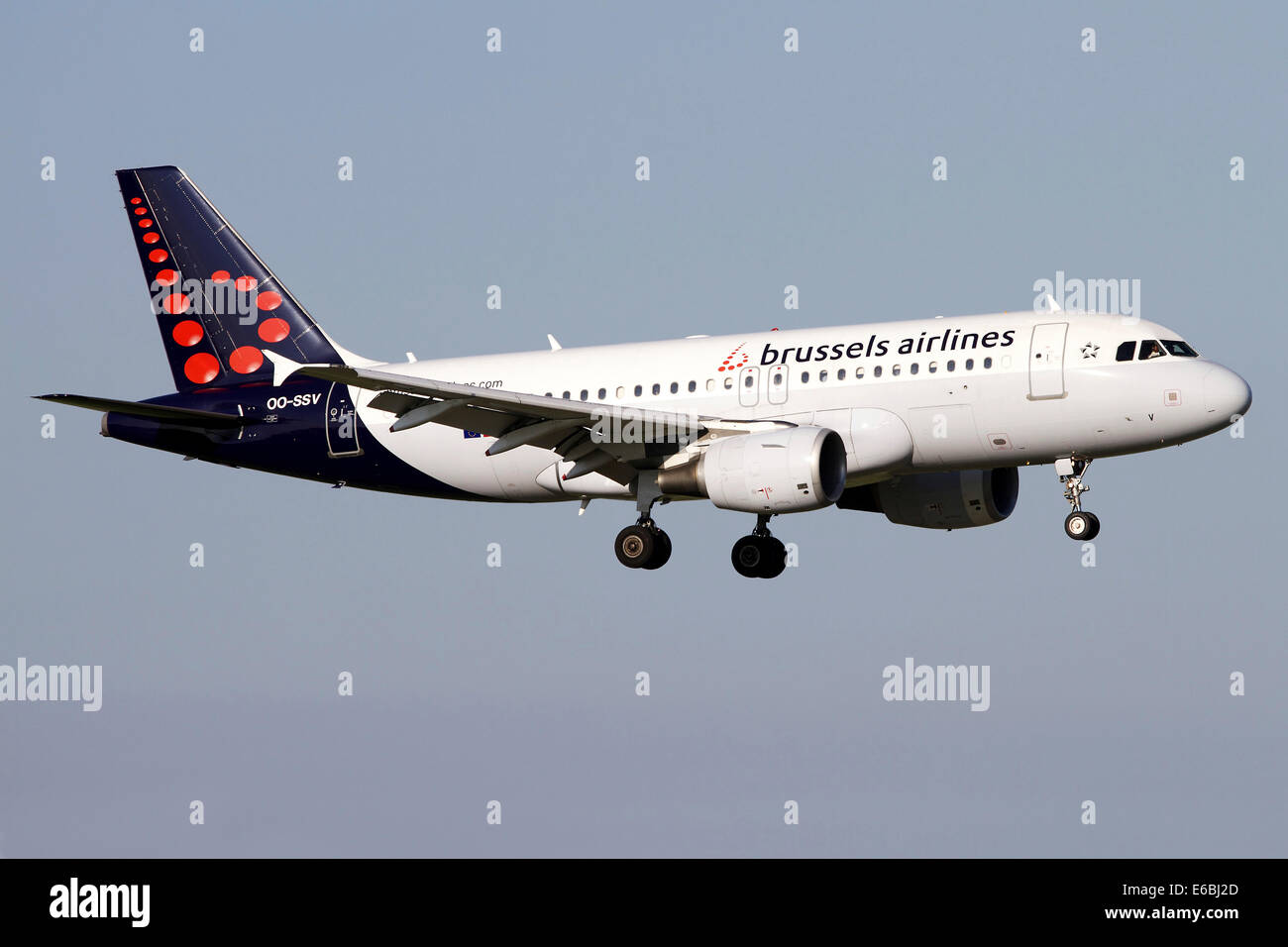 Airbus A319 of Brussels Airlines. - Stock Image