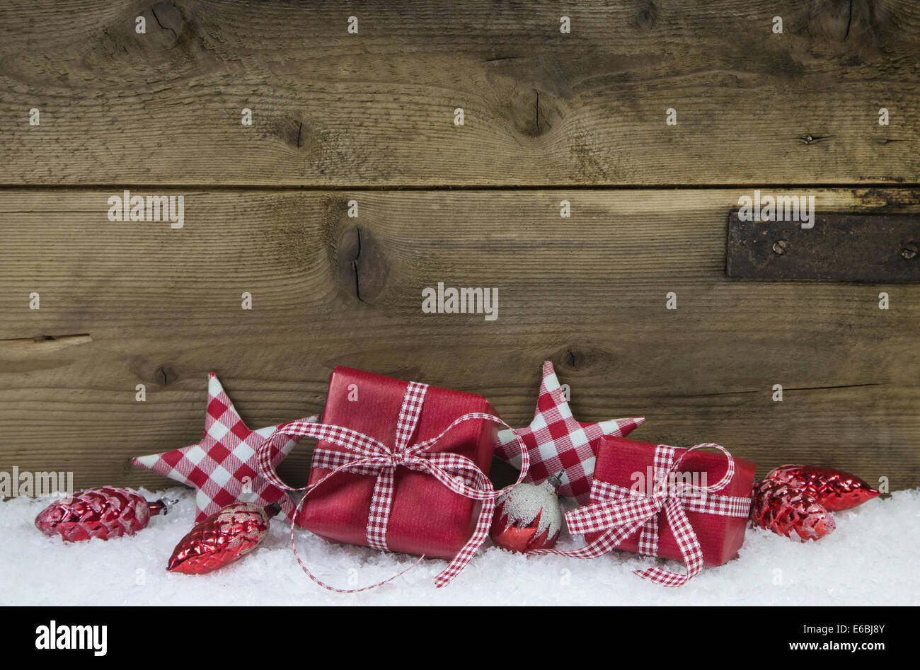 Christmas In Color.Presents For Christmas In Red White Checkered Color On