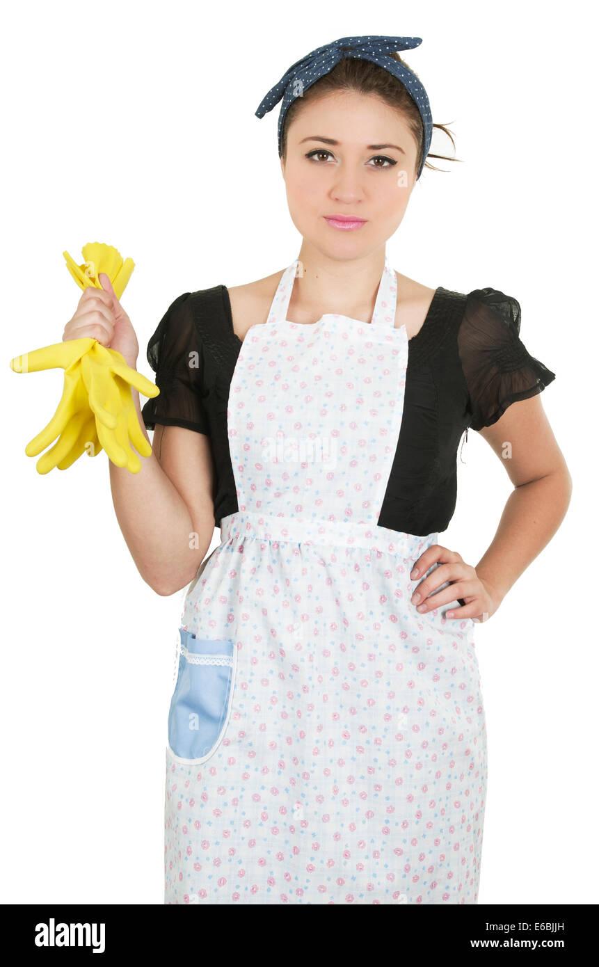 Hispanic Maid Cleaning Kitchen Stock Photos & Hispanic Maid Cleaning ...