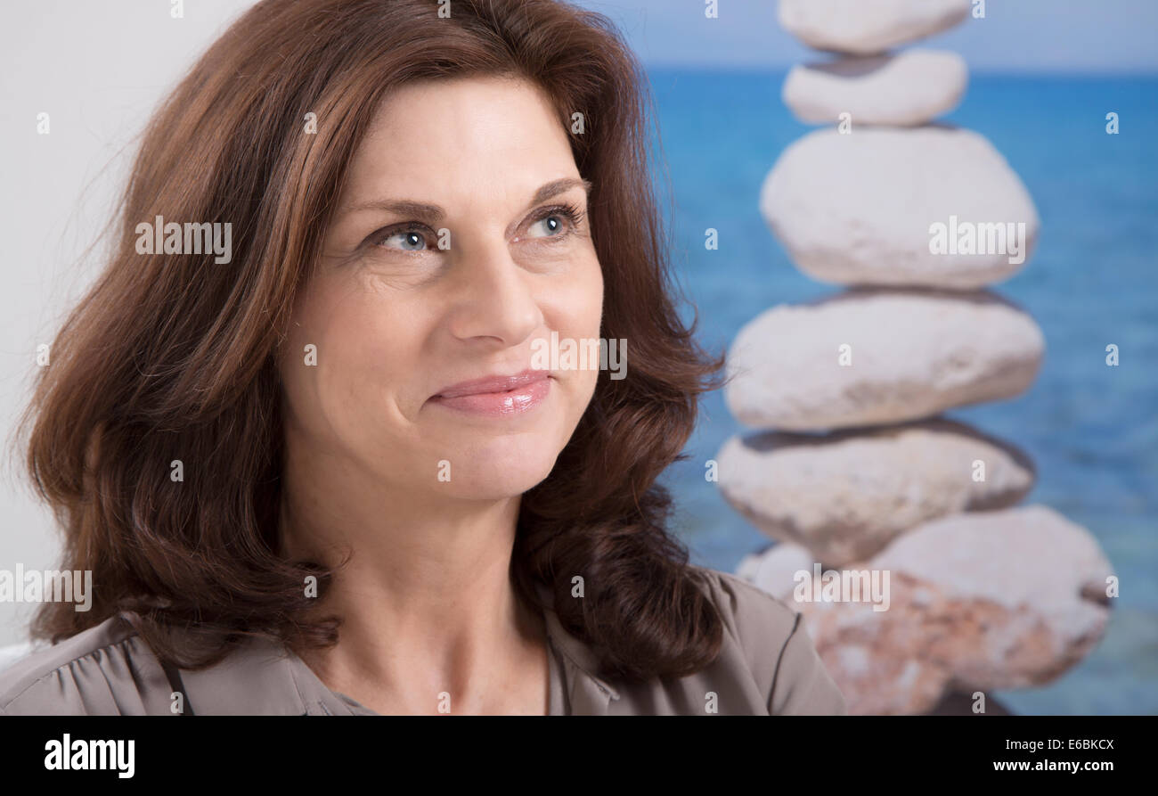 older brunette woman stock photos & older brunette woman stock