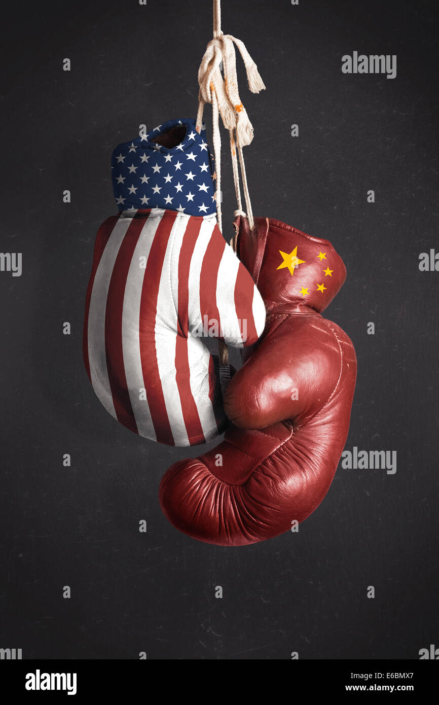 Symbol, the struggle for economic power between the United States and China - Stock Image