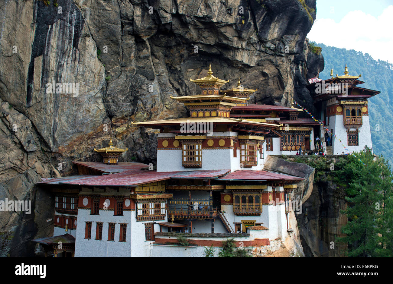 Tiger's Nest Monastery, Taktsang Monastery, Paro district, Bhutan - Stock Image
