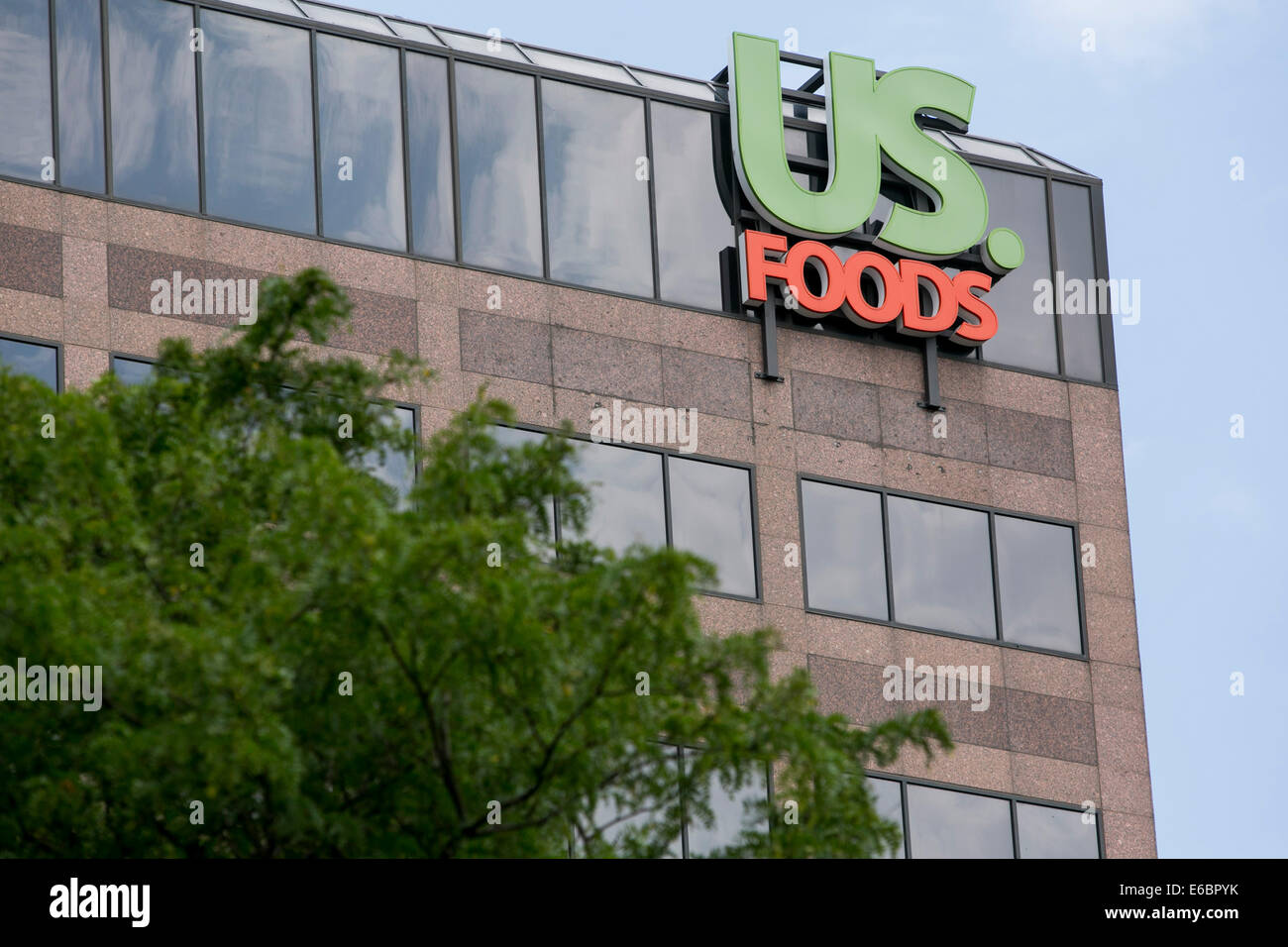 The headquarters of US Foods in Rosemont, Illinois Stock