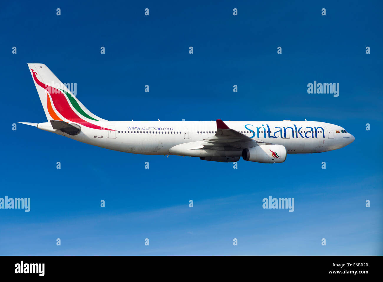 SriLankan Airlines Airbus A330-243 in flight - Stock Image