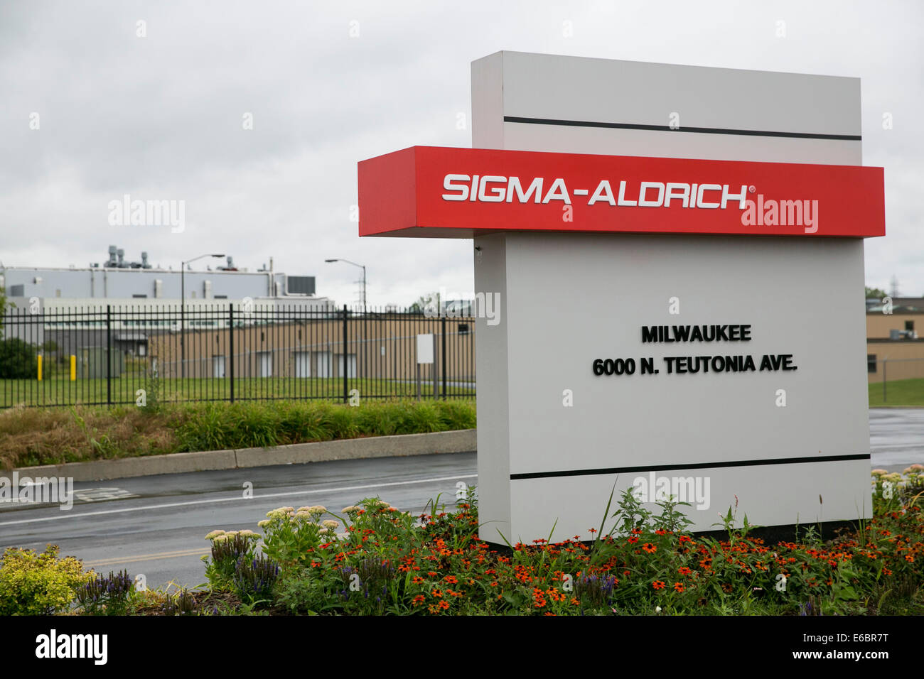 A Sigma-Aldrich manufacturing facility in Milwaukee, Wisconsin. Stock Photo