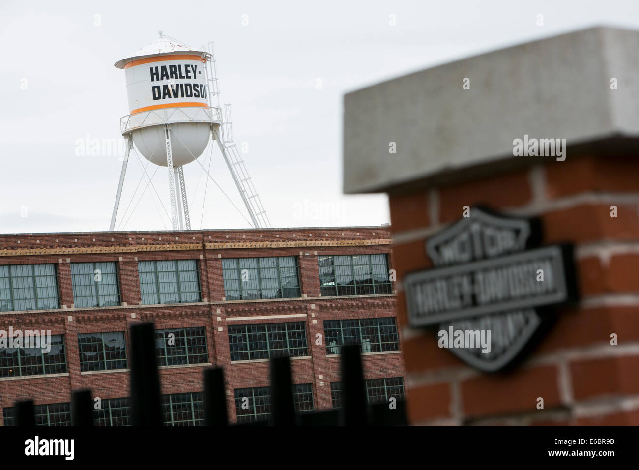 The headquarters of Harley-Davidson Inc., in Milwaukee, Wisconsin. - Stock Image