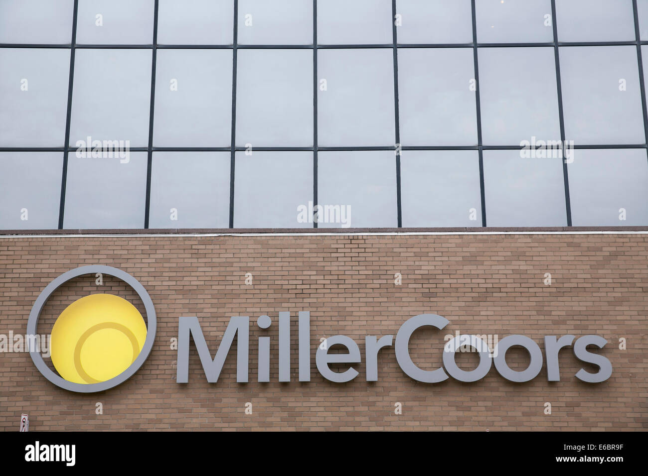 The MillerCoors brewery in Milwaukee, Wisconsin. - Stock Image