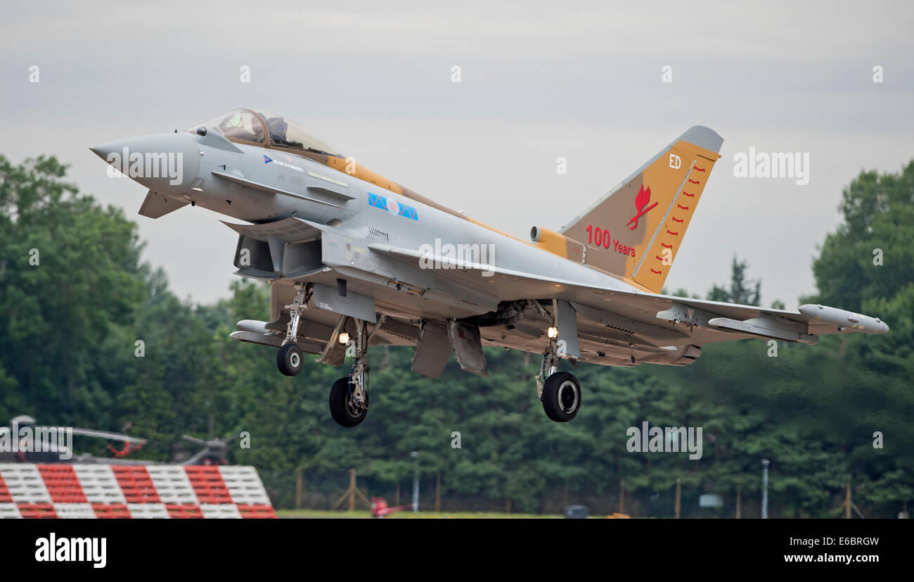 RAF Eurofighter Typhoon FGR4 6 Squadron Special on approach at the Royal International Air Tattoo Stock Photo