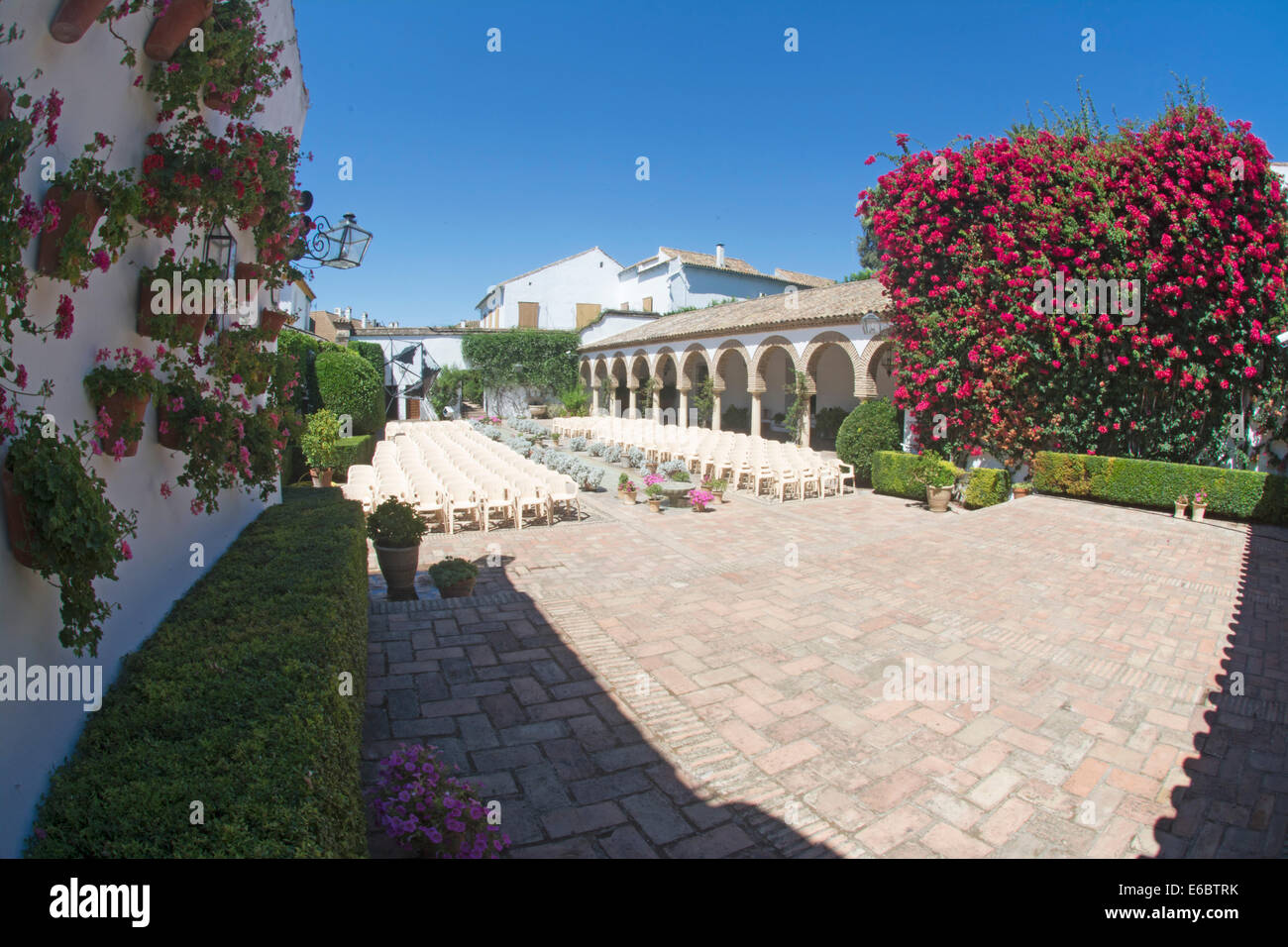 The Courtyard of the Columns, Courtyards of Viana, Cordoba, Andalusia, Spain, Europe - Stock Image