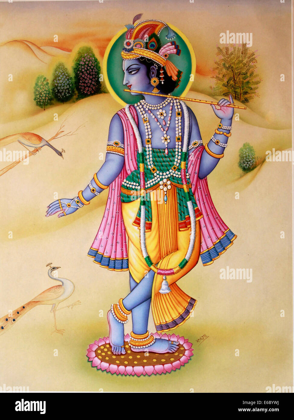 Krishna Art Stock Photos & Krishna Art Stock Images - Alamy