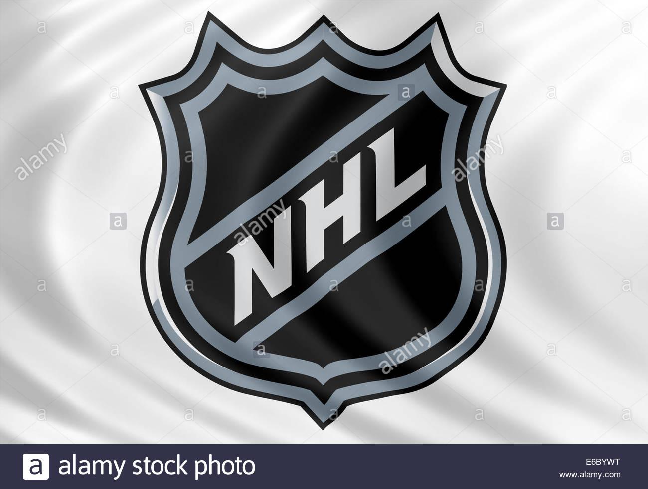 National Hockey League Nhl Logo Icon Isolated Flag Stock Photo