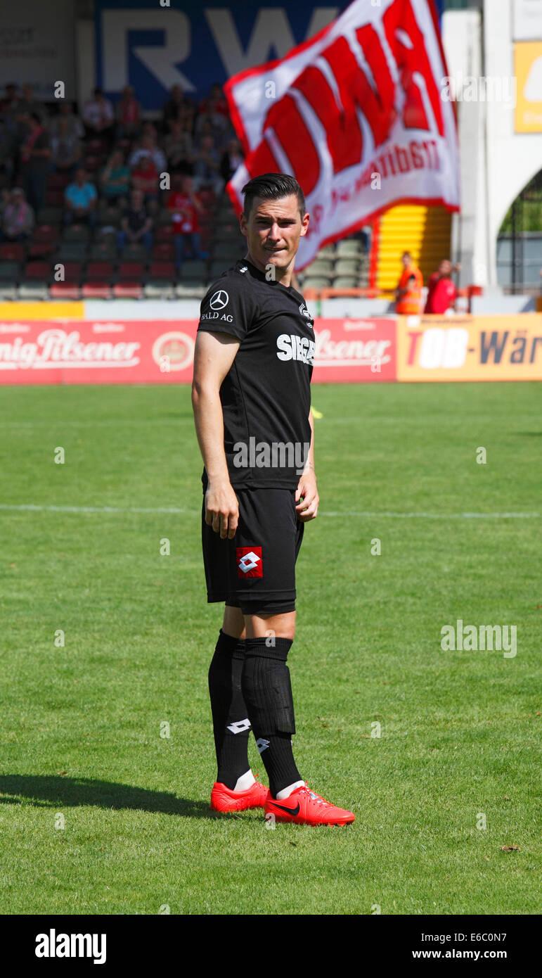 sports, football, Regional League West, 2014/2015, Rot Weiss Oberhausen versus Sportfreunde Siegen 2:1, Stadium Stock Photo