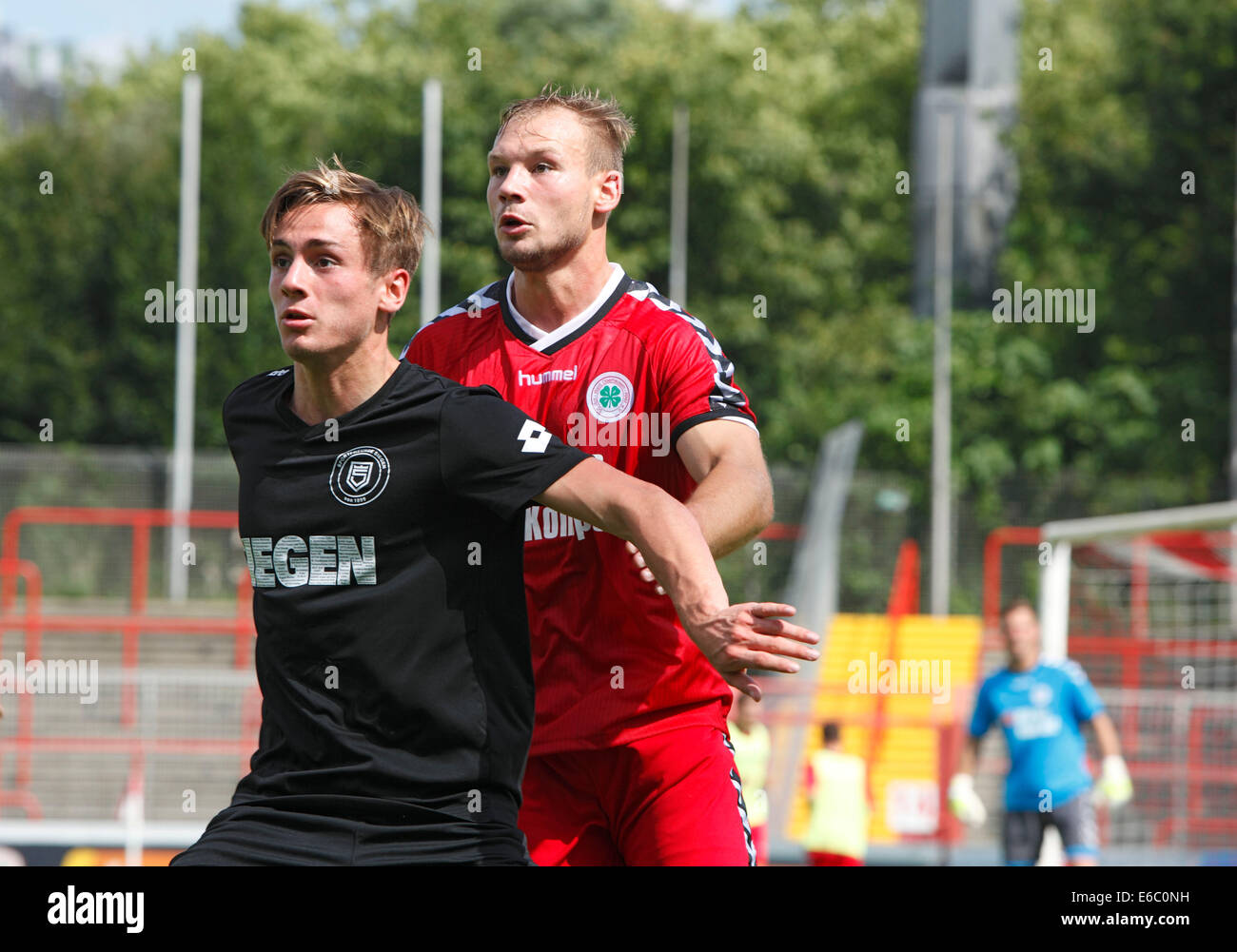 sports, football, Regional League West, 2014/2015, Rot Weiss Oberhausen versus Sportfreunde Siegen 2:1, Stadium - Stock Image