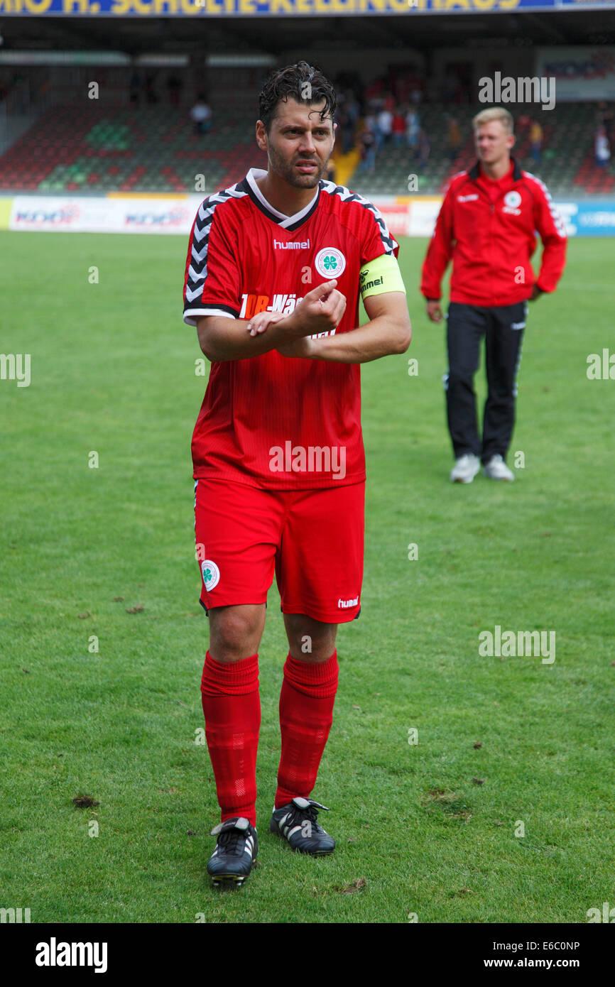 sports, football, Regional League West, 2014/2015, Rot Weiss Oberhausen versus Sportfreunde Siegen 2:1, Stadium - Stock Image