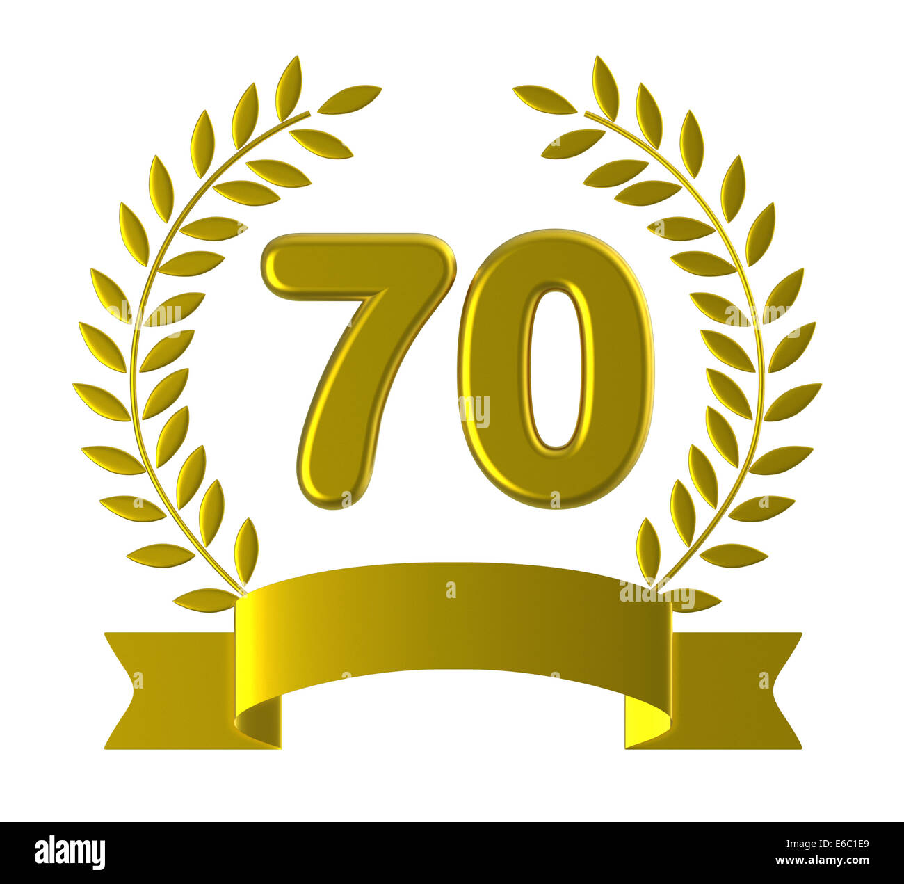Seventieth Birthday Meaning Happy Anniversary And 70th Stock Photo