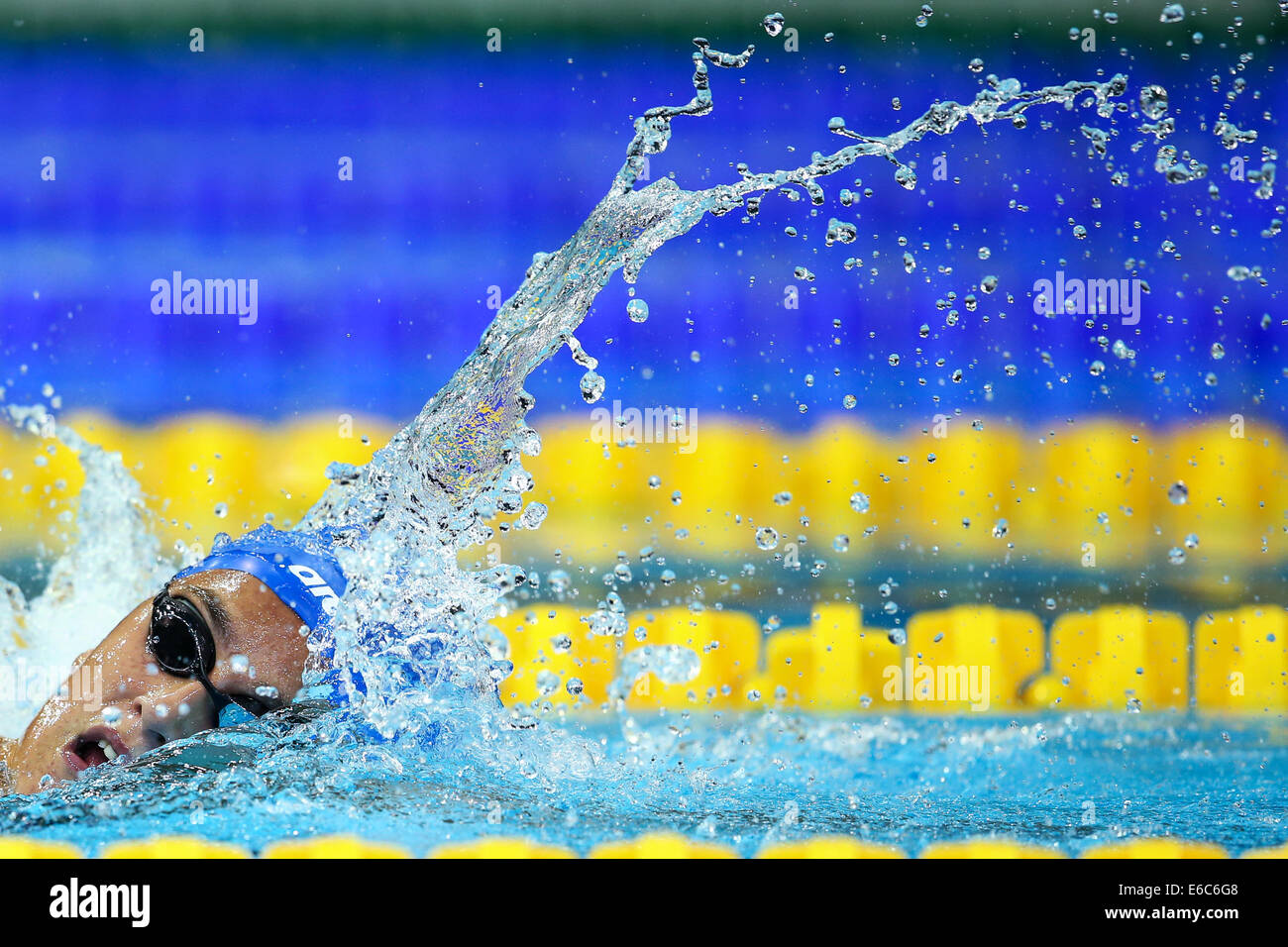 Berlin, Germany. 20th Aug, 2014. Anna-Marie Benesova of the Czech Republic competes in the women's 800m Freestyle - Stock Image