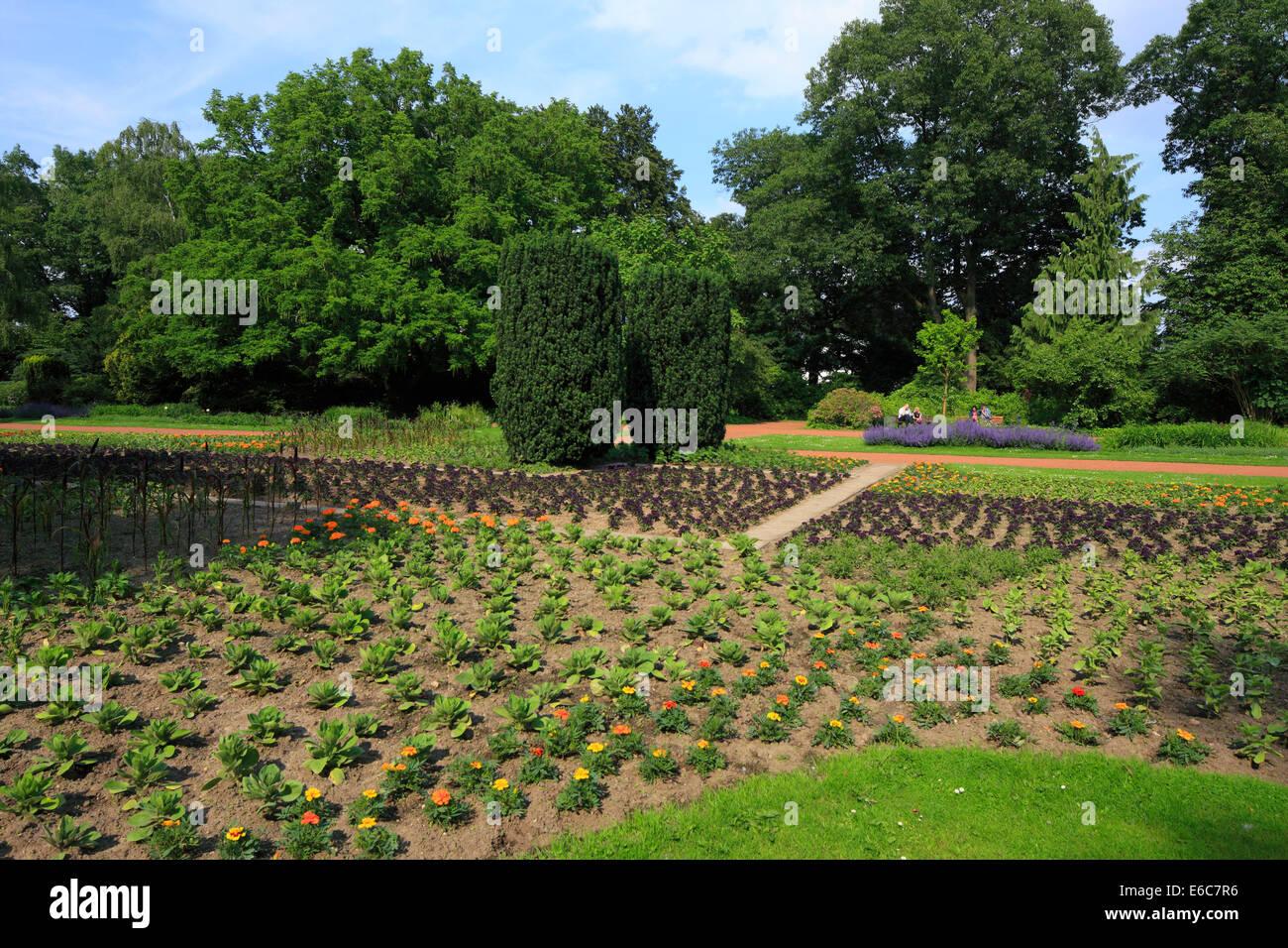Bunter Garten und Botanischer Garten in Moenchengladbach, Niederrhein, Nordrhein-Westfalen - Stock Image