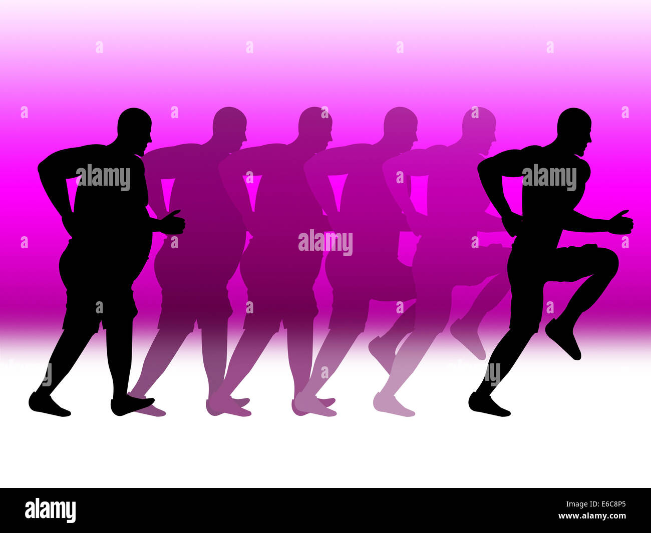 Weight Loss Meaning Get Fit And Dietician - Stock Image