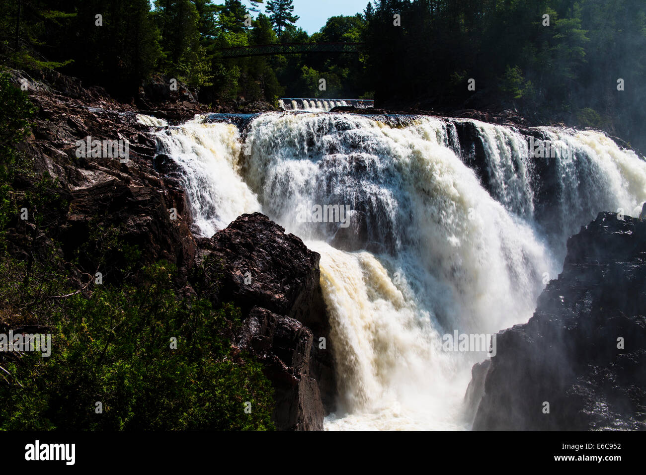 Fort-Coulonge Quebec Canada waterfalls at Fort Coulonge - Stock Image