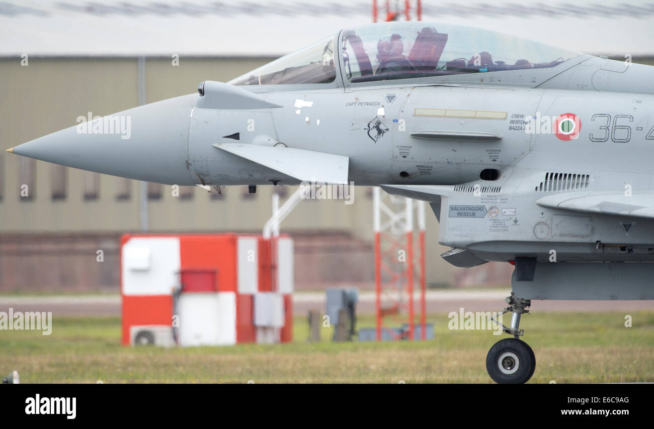 Italian Air Force Eurofighter F-2000A Typhoon at RIAT 2014 Stock Photo